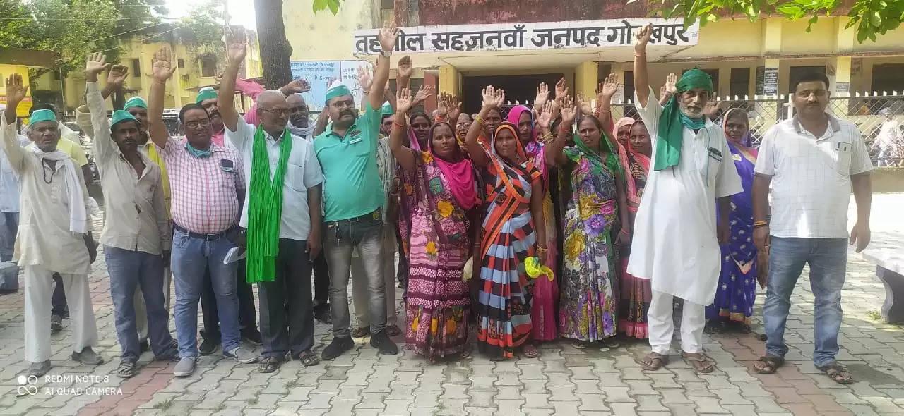 सीबीआई जांच की मांग को लेकर भारतीय किसान यूनियन राष्ट्रीयतावादी ने सौपा ज्ञापनv