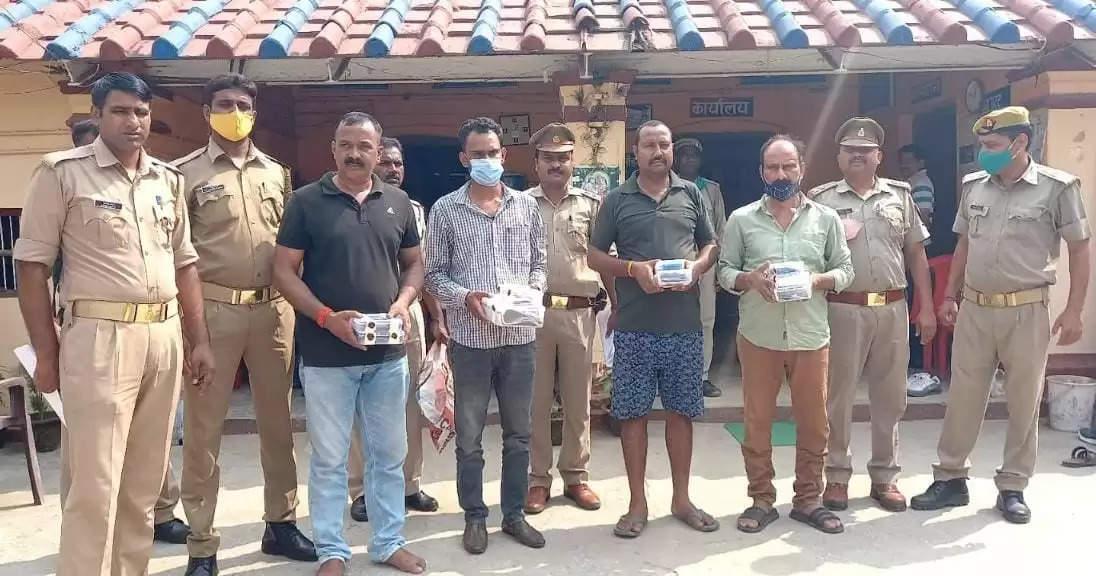 रेलवे विभाग का फर्जी नियुक्ति पत्र देकर लोगो से ठगी करने वाले चार शातिर अभियुक्तगण गिरफ्तार