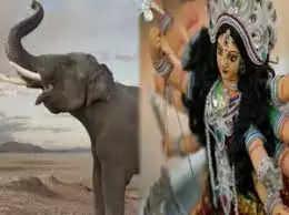 झूले पर आएंगी मां, हाथी पर प्रस्थान