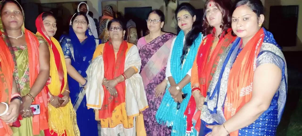 भाजपा चंदौली पूर्वी मंडल महिला मोर्चा कार्यसमिति कि बैठक सम्पन